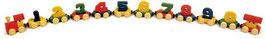 Zahlenzug mit Magneten, Kindergeburtstag, Eisenbahnen, Holzspielzeug