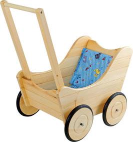 Puppenwagen aus Buchenholz, für Puppenbabys und Teddybären, Puppenhäuser u. Zubehör, Holzspielzeug