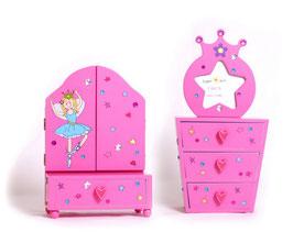 """Spiegelkommode """"Beauty"""", Puppenhäuser u. Zubehör, Aufbewahrungsmöbel für Schmuckstücke u. kleine Wichtigkeiten"""