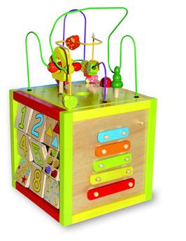 Aktiv-Würfel, groß, Motorik Spielzeug, Kinder-Holzspielsachen als Lernartikel
