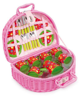 """Picknickkoffer """"bunte Kreise"""", Küchen u. Zubehör, Gartenspielzeug Outdoor"""