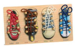 Schuhe binden, Motorik Spielzeug, Lernartikel