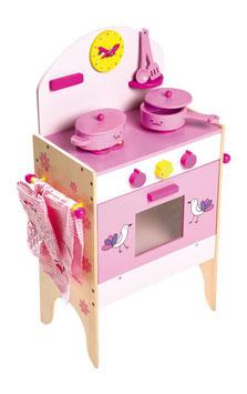 Küchenherd mit Zubehör, Kinderzimmemöbel u. Zubehör, Holzspielzeug