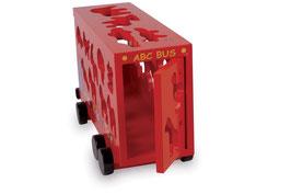 ABC-Bus Doppeldecker-Alphabet-Steckspiel, Motorik Spielzeug, Fahrzeuge-Autos, Holzspielzeug, Lernartikel