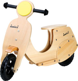 Laufroller Motorroller Outdoor-Spielzeug, Holz-Laufrad im nostalgischen Design für tollen Fahrspaß