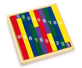 Rechenstäbchen im Quadrat, Lernartikel für Rechenaufgaben, Zahlen von 1-10, für alle Rechenkünsler