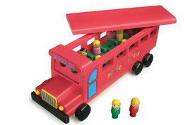 Schulbus, Fahrzeuge-Autos, Motorik Spielzeug, Holzspielzeug