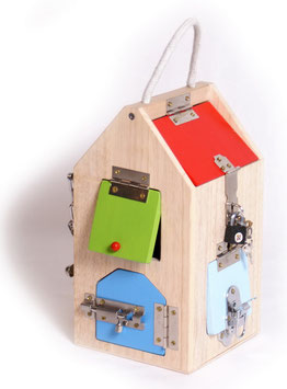 Schlosshaus, Motorik Spielzeug aus Holz, Lernartikel