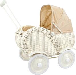 """Puppenwagen """"Korbgeflecht"""", für den kleinen Puppenliebling der Puppenmami"""