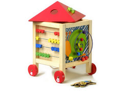Aktiv-Haus, Motorik Spielzeug, Kinder-Holzspielsachen als Lernartikel