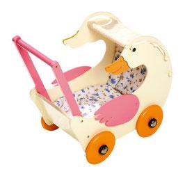 """Puppenwagen """"Paula Gans"""", für Puppenbabys und Teddybären, Puppenhäuser u. Zubehör, Holzspielzeug"""