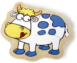 """Puzzle-Box """"Bauernhof"""", Tiere Bauernhöfe-Zubehör, Holzspielzeug"""