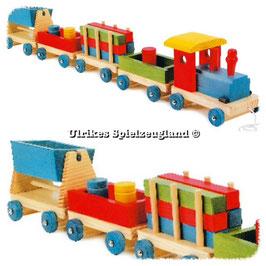 "Holz-Eisenbahn ""Zug"" mit Anhänger"