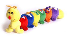Tausendfüßler, Babyartikel aus Plüsch, zur Schulung der Motorik, Babyspielzeug