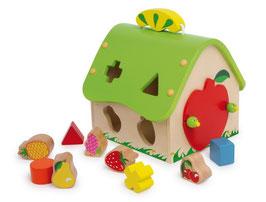 """Steck-Haus """"Früchte"""", Motorik Spielzeug, Bauernhöfe-Zubehör, Holzspielsachen"""
