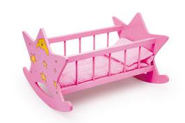 """Puppenwiege """"Stern"""", Puppenbett für Puppenkinder, Puppenhäuser u. Zubehör"""