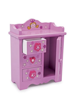 """Kommode """"Beauty Princess"""", Puppenhäuser u. Zubehör, Aufbewahrungsmöbel für Puppenwäsche"""