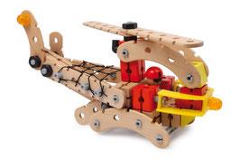 """Konstruktions-Set """"Rettungshubschrauber"""" als Holzspielzeug für Transporte"""