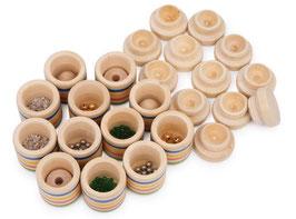 Hör-Memo, Gesellschaftsspiel mit 12 Holzdosen, Kinder-Holzspielzeug