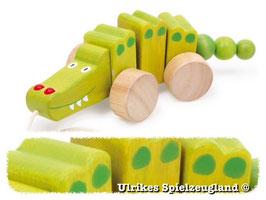 Nachzieh-Krokodil, Zieh- u. Schiebeartikel, Kinder-Holzspielzeug