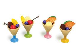 Eiscreme 4er-Set, Kaufläden, Küchen u. Zubehör