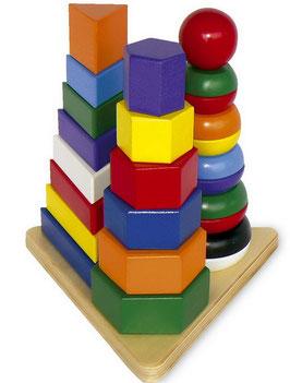 """Pyramide """"3 in 1"""", Bauen u. Konstruieren, Motorik Spielzeug, Holzspielzeug"""