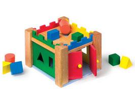 Steck-Schloss, Motorik Spielzeug, Kinder-Holzspielsachen