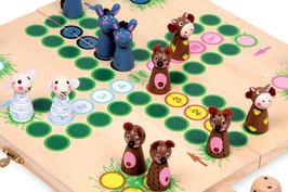 Ludo Farmtiere, Bauernhöfe u. Zubehör als Gesellschaftsspiel, Holzspielsachen