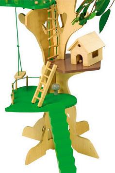 Baumhaus, Puppenhäuser u. Zubehör, Puppen, Abenteurer-Haus fürs Kinderzimmer, Holzspielzeug