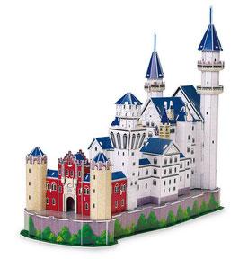 3D Schloss Neuschwanstein, das märchenhafteste Schloss der Welt als Puzzle
