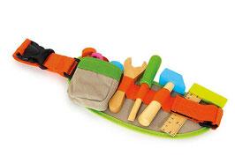 Werkzeuggürtel, Werkbänke u. Werkzeug