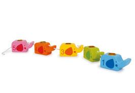 Geburtstagselefanten, Deko für den Kindergeburtstag, Kerzenhalter für den Geburtstagstisch