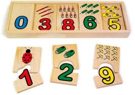 Lernspiel Zahlenzuordnung, Puzzle-Lernartikel, Kinder-Holzspielzeug