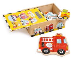 "Puzzle-Box ""Fahrzeuge"" - Autos, Holzspielzeug"