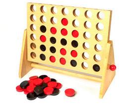 Vier in einer Reihe, Gesellschaftsspiel, Strategiespiel mit viel Logik
