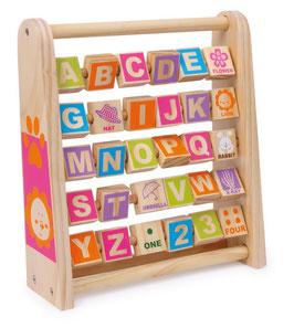 Lerne Englisch, Lernartikel für Sprachen mit Magnetbuchstaben, Holzspielzeug