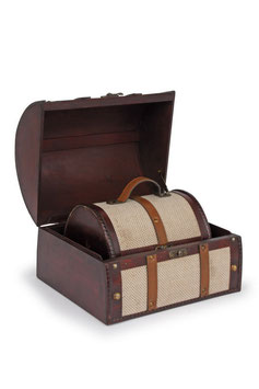 """Holzbox """"Stoffbezug"""", Geschenke-Dekoration"""