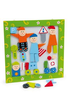 """Magnetbild """"Figuren"""", Kinder-Holzspielsachen als Puzzle"""