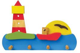 Garderobe -Leuchtturm-, Kinderzimmermöbel u Zubehör, Schiffe-Zubehör, Holzspielzeug