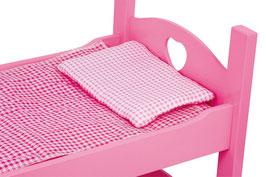 Einzel- / Etagenbett, pink, Puppenbett für Puppenkinder, Puppenhäuser u. Zubehör