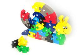 """Puzzle """"Schnecke"""", Alphabet-Lernspiel, Buchstaben-Puzzle, Lernartikel"""
