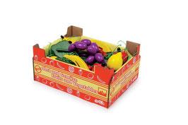 Stiege mit Obst, Kaufläden-Zubehör