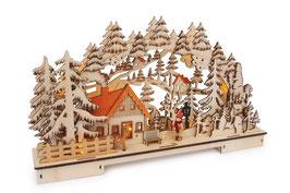 """Lampe """"Waldlandschaft"""", Weihnachten-Christmas"""