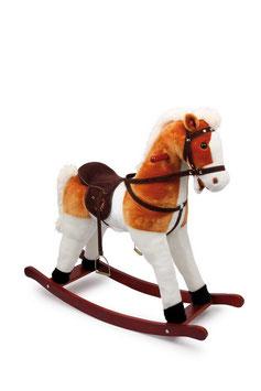 """Schaukelpferd """"Calypso"""" läßt Kinderherzen höher schlagen, Pony mit weichem Fell, das wiehert"""