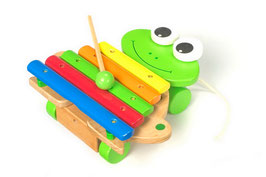 "Xylophon ""Frosch"", Musikinstrumente, Zieh- u. Schiebeartikel"