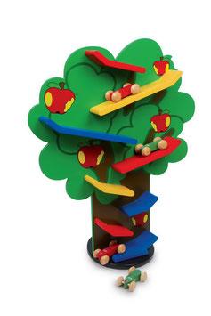 Kaskadenbaum, Fahrzeuge-Autos auf Kugelbahnen, Holzspielzeug