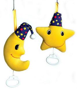 """Spieluhr """"Mond und Stern"""", Spieluhren, Babyartikel, Plüsch- u. Kuschelartikel"""