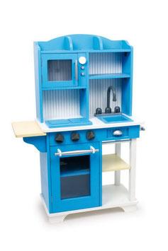 Küche blau, Küchen u. Zubehör, Holzspielzeug für Kinder-Köche