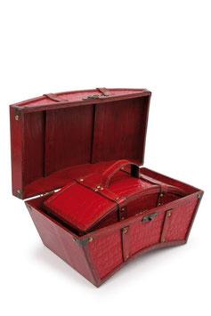 """Holzbox """"Kroko-Optik"""", Geschenke-Dekoration"""
