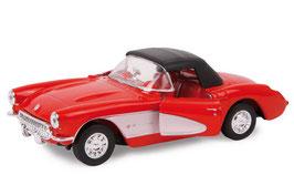 """Modellauto """"Chevrolet 57 Corvette"""" Automobil-Klassiker und Nostalgieauto für Spielkinder und Sammler"""